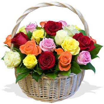 Bursting With Color Floral Basket